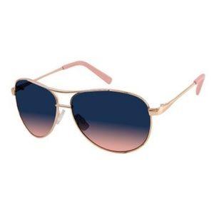Jessica Simpson J106 Rose Gold Aviator Sunglasses